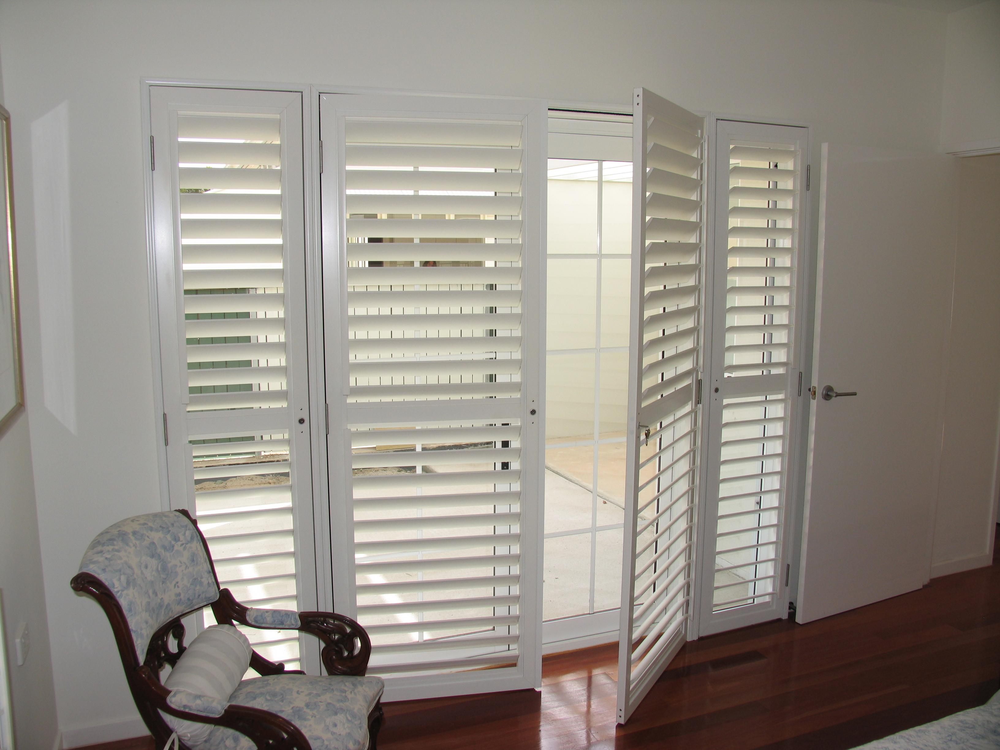 Security365™ Plantation Blinds - Security Doors