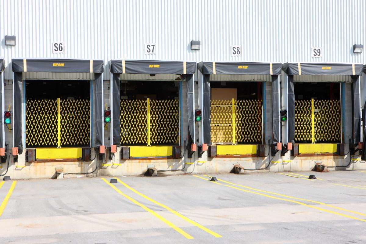 Smart shipping dock gates security doors portable